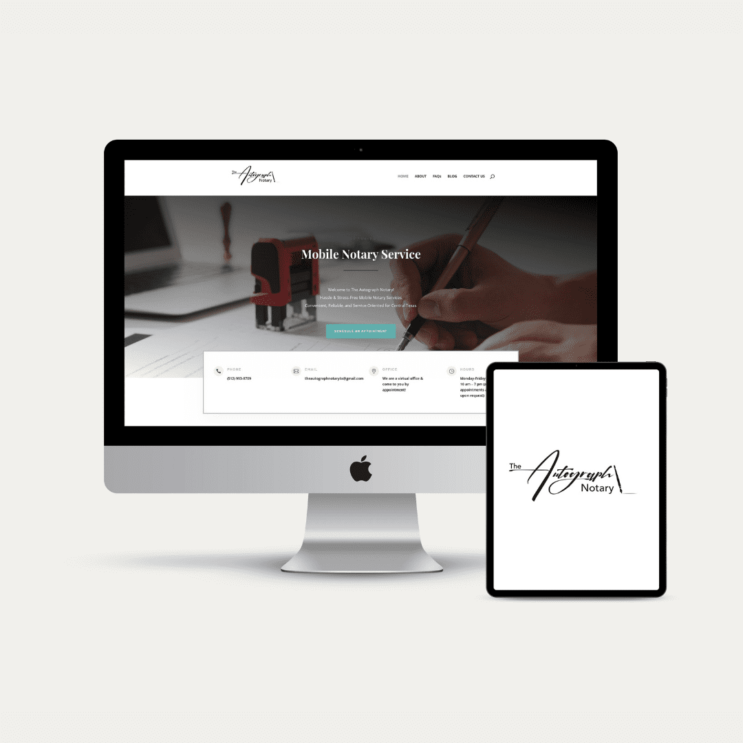 SEO Optimized Website + Logo for The Autograph Notary